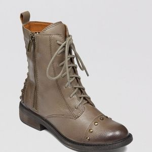 Lucky Brand Leather Studded Nolan Combat Boots
